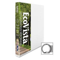 """Eco-Vista View Binder - 0.50"""" Binder Capacity - Letter - 8.50"""" x 11"""" Sheet Size - 3 x Round Ring Fastener(s) - 2 Spine, Inside Front & Back, Inside Front Pocket(s) - Polypropylene, Paperboard -"""