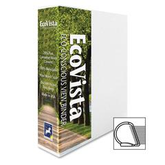 """Aurora EcoVista D-ring View Binders - 1 1/2"""" Binder Capacity - Letter - 8 1/2"""" x 11"""" Sheet Size - 3 x D-Ring Fastener(s) - 2 Spine, Inside Front & Back, Inside Front Pocket(s) - Polypropylene, Paperbo"""