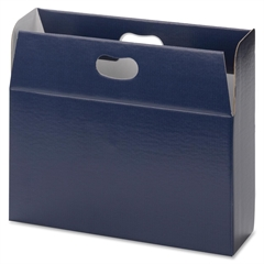 "Smead 92020 Navy MO File Case - 3"" Folder Capacity - Letter - 8.50"" x 11"" Sheet Size - 750 Sheet Capacity - Corrugated - Navy - Recycled - 1 Each"