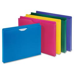 "Sparco Poly File Jacket - 1"" Folder Capacity - Letter - 8 1/2"" x 11"" Sheet Size - Poly, Polypropylene - Assorted - 10 / Pack"