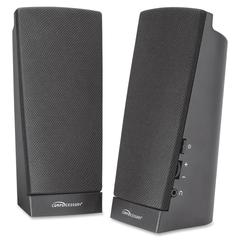 Compucessory Speaker System - 1 W RMS - Black - USB