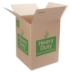 "Duck Double-wall Construction Heavy-duty Boxes - External Dimensions: 18"" Width x 18"" Depth x 24"" Height - 42 lb - Heavy Duty - Brown - 6 / Pack"