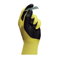 Ansell HyFlex Nitrile Gloves - 8 Size Number - Nitrile - Yellow - Abrasion Resistant, Knit Wrist, Latex-free - 2 / Pair