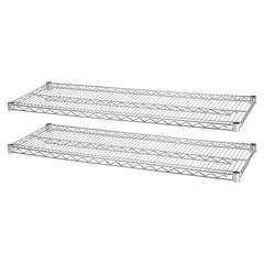 "Lorell Indust Wire Shelving Starter Extra Shelves - 48"" Width x 24"" Depth - Steel - Chrome"