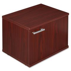 "Lorell Concordia Series Mahogany Laminate Desk Ensemble - 23.6"" x 17.8"" x 16.5"" - Mahogany - Mahogany Laminate - Assembly Required"
