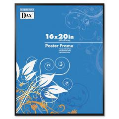 "DAX Metal Poster Frames - Holds 16"" x 20"" Insert - Shatter Proof - Plastic, Metal - Black"