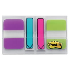 Post-it Durable Index Tabs - Write-on - Multicolor - 64 / Pack
