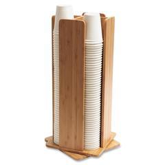 Bamboo Revolving Cup/Lid Dispenser - Standing
