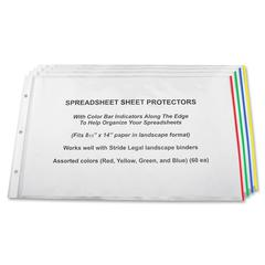 "Semi-clear Landscape Sheet Protectors - 20 x Sheet Capacity - For Legal 8.50"" x 14"" Sheet - 3 x Holes - Clear - Polypropylene - 15 / Box"
