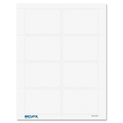 "Baumgartens Easy-peel Self-adhesive Visitor Badge - 200 / Box - 8.5"" Width x 11"" Height - Self-adhesive, Removable, Easy Peel, Pressure Sensitive - White"