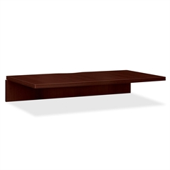 "HON Bridge with Open Back - 47"" Width x 24"" Depth x 29.5"" Height - Cove Edge - Particleboard, Wood Grain - Laminate, Mahogany"