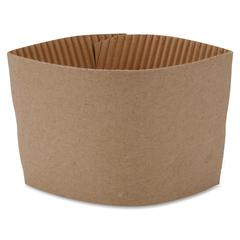 Protective Corrugated Cup Sleeves - Brown