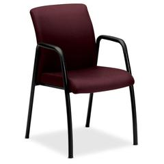 """HON Ignition Seating Series Guest Chairs - Steel Frame - Four-legged Base - Wine - 19"""" Seat Width x 18"""" Seat Depth - 24"""" Width x 22"""" Depth x 34.5"""" Height"""