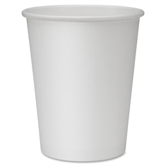 Genuine Joe Lined Disposable Hot Cups - 8 fl oz - 50 / Pack - White - Polyurethane - Hot Drink
