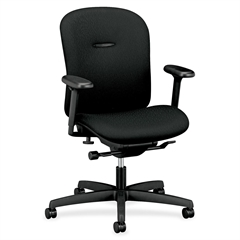"HON Mirus Task Chair - Polyester Black Seat - 28.3"" x 30.5"" x 39.5"" Overall Dimension"