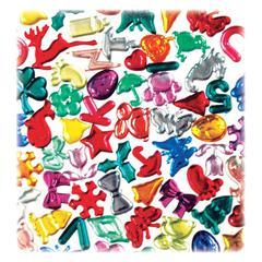 1/2 lb Acrylic Gems - Assorted - Acrylic - 1 / Pack