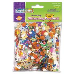 ChenilleKraft Glittering Confetti Bonus Bag - 2 / Pack - Assorted