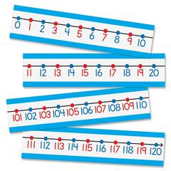 "Carson-Dellosa Number Line Bulletin Board Set - 4"" Height x 6"" Width - Red, Black, Blue - 1 / Set"