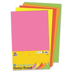 "Pacon Half-size Sheet Poster Board - 14"" x 22"" - 5 / Pack - Neon"