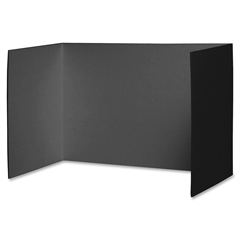 "Pacon Privacy Boards - 48"" Width x 16"" Height - Black"