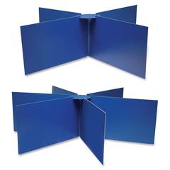 "Pacon Round Table Privacy Boards - 48"" Width x 14"" Height - Blue"