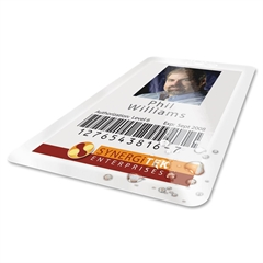 "GBC HeatSeal UltraClear Thermal Laminating Pouches - Laminating Pouch/Sheet Size: 2.56"" Width x 3.75"" Length x 7 mil Thickness - for ID Badge - Unpunched, Moisture Resistant - Clear - 100 / Box"