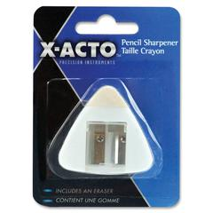 Elmer's X-Acto Pencil Sharpener with Eraser - Handheld - Assorted