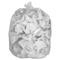 """High-density Resin Trash Bags - Extra Large Size - 60 gal - 38"""" Width x 58"""" Length x 0.55 mil (14 Micron) Thickness - High Density - Clear - Resin - 200/Carton - Industrial Trash, Office W"""