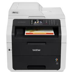 "Brother MFC-9330CDW LED Multifunction Printer - Color - Duplex - Copier/Fax/Printer/Scanner - 22 ppm Mono/22 ppm Color Print - 2400 x 600 dpi Print - 3.7"" LCD Touchscreen - Wireless LAN - USB 2.0"
