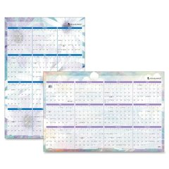 "At-A-Glance Dreams Erasable Wall Planner - Julian - Monthly - January 2017 till December 2017 - 24"" x 36"" - Wall Mountable - Assorted - Write on/Wipe off, Reminder Section"