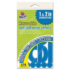Pacon Self-adhesive Letters - Uppercase Letters, Punctuation Marks, Number - Self-adhesive - Tear Resistant, Acid-free, Fade Resistant, Durable - Blue - 276 / Pack
