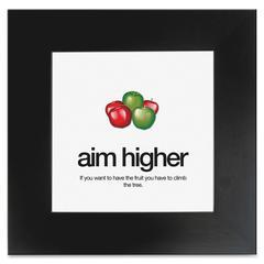 """Aurora AIM Poster - Motivation - 20"""" Width x 20"""" Height - Black"""