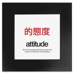 """Aurora Attitude Poster - Motivation - 20"""" Width x 20"""" Height - Black"""