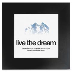 "Live the Dream Poster - 20"" Width x 20"" Height - Black Frame - Black"
