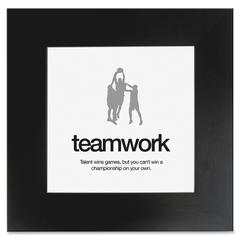 "Aurora Teamwork Poster - Motivation - 20"" Width x 20"" Height - Black"