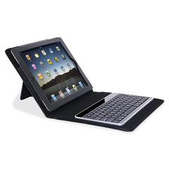 "Keyboard/Cover Case (Portfolio) for iPad - Black - Plastic - 8.4"" Height x 10.3"" Width x 1.2"" Depth"