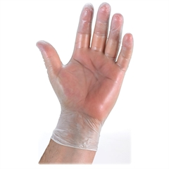 Genuine Joe Vinyl General Purpose Gloves - Large Size - Vinyl - Clear, Green - Powder-free, Latex-free, Disposable, Ambidextrous - For Multipurpose - 100 / Box