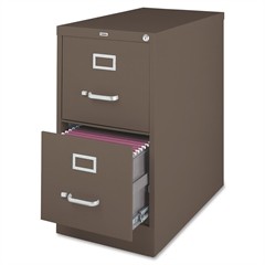 "Lorell Fortress Series 26.5'' Letter-size Vertical Files - 15"" x 26.5"" x 28.4"" - 2 x Drawer(s) for File - Letter - Vertical - Label Holder, Drawer Extension, Ball-bearing Suspension, Heavy Duty, Secur"