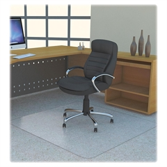 "Rectangular Polycarbonate Chair Mat - Carpet - 60"" Length x 46"" Width - Rectangle - Polycarbonate - Clear"
