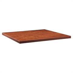 """Modular Cherry Conference Tabletop - Square Top - 47.25"""" Table Top Width x 47.25"""" Table Top Depth x 2"""" Table Top Thickness - Assembly Required - Cherry, Laminated, Melamine - Chipboard, Medium"""