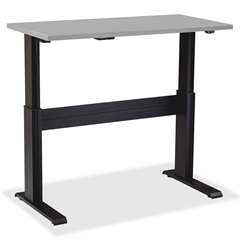 "Lorell Electric Height-Adjustable Base - 47"" Height x 60"" Width x 24"" Depth - Assembly Required - Black"