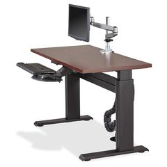 """Height-adjustable Workstation Tabletop - Mahogany - 60"""" Table Top Width x 24"""" Table Top Depth x 1"""" Table Top Thickness - Assembly Required"""