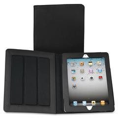 "Fashion Carrying Case (Folio) for iPad - Black - Polyvinyl Chloride (PVC) - Black Debossed Diamond - 10"" Height x 8"" Width x 1"" Depth"