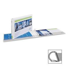 "Avery Heavy-duty 11x17 EZD Ring View Binders - 1"" Binder Capacity - Tabloid - 11"" x 17"" Sheet Size - D-Ring Fastener - 2 Internal Pocket(s) - White - 1 Each"