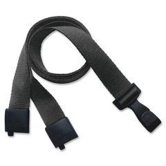 "SICURIX Recycled PET Breakaway Lanyards - 0.6"" Width x 36"" Length - Black - Plastic, Metal"