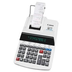 Canon MP27DII Print Calculator - Dual Color Print - Dot Matrix - 4.8 lps - Heavy Duty, Extra Large Display, Auto Power Off, Clock, Calendar, Sign Change, Item Count - 12 Digits - Fluorescent - AC Supp