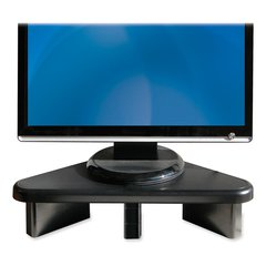 "DAC Adjustable Corner Monitor Riser - 77 lb Load Capacity - Flat Panel Display Type Supported19.8"" Width - Desktop - Black"