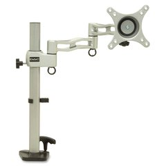 "DAC MP-199 Mounting Arm for Flat Panel Display - 13"" to 27"" Screen Support - 20 lb Load Capacity - Steel - Silver, Black"