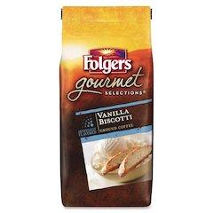 Folgers Gourmet Vanilla Biscotti Gourmet Coffee Ground - Vanilla Biscotti - 10 oz - 1 Each