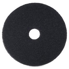 "3M Niagara 7200 Floor Stripping Pads - 12"" Diameter - 5/Box - Black"